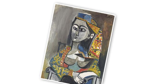 Женщина в турецком костюме, сидящая в кресле